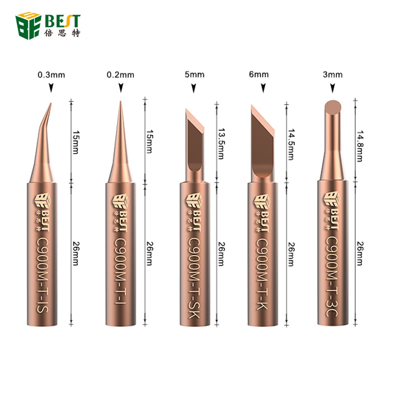BEST Original Oxygen-free Pure Copper Soldering Iron Tip 900M-T-IS 900M-T-SK Soldering Iron Tip Special For Horns Plastic