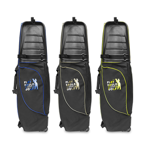 Image 3 - 골프 항공 가방 하드 탑 하단 바퀴 Shockproof 골프 여행 커버 가방 Protable 접는 골프 항공 가방 에어백 골프