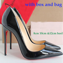 Genuine Leather Woman Shoes High Heels Women Pumps Thin Sexy High Heel Shoes Black/Nude 8cm 10cm 12cm
