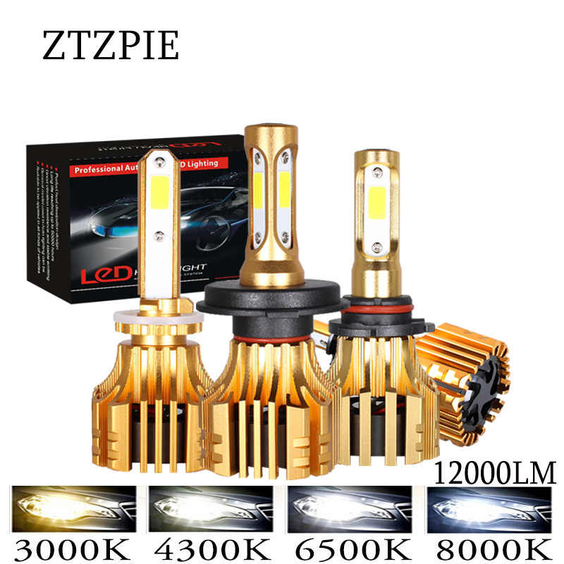 ZTZPIE 3000K 4300K 6000K 8000K 12000LM 9005 H1 880 H4 Turbo Led Headlight H3 H7 H11 9006 Led Bulbs H16 Super Bright COB Light