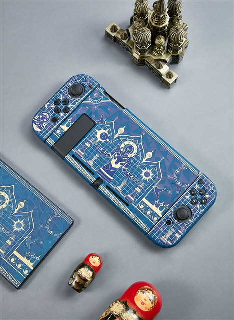 For Nintend Switch Protective Shell Silicone Game Console Split Soft Case Cover Ns Tarot Chess Theme Handle Set Accessories
