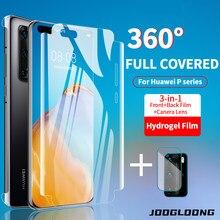 360 capa completa filme de hidrogel para huawei p40 p20 p30 pro protetor de tela traseira para huawei companheiro 40 30 20 lite pro câmera lente filme