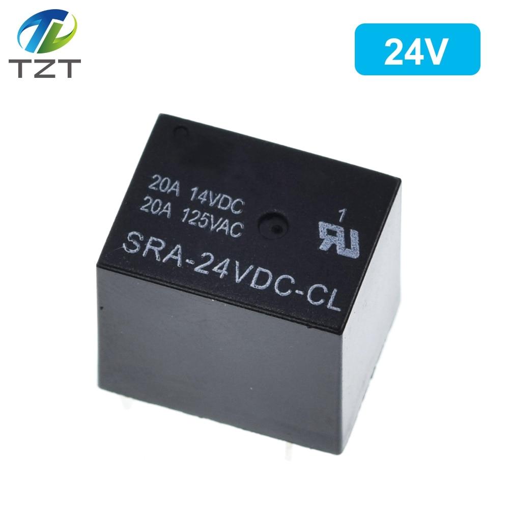 Image 4 - 50PCS Power relays SRA 05VDC CL SRA 12VDC CL SRA 24VDC CL 5V 12V 24V 20A 5PIN T74 5PIN CMA51 HFKW DC Mini Power Relayrelay dcdc dcrelay 20a -