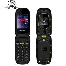 Ulefone zırh IP68/IP69K su geçirmez darbeye dayanıklı sağlam Flip cep telefonu çift ekran 1200mAh çift SIM kilidini cep telefonu