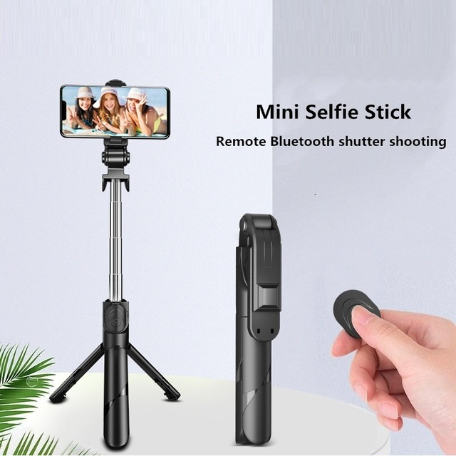2021 NEW Bluetooth Wireless Selfie Stick Mini Tripod Extendable Monopod with fill light Remote shutter For IOS Android phone 5