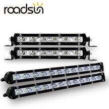 Roadsun Barra de luces LED delgada de 7 , 13, una hilera de luces diurnas de 18W, 36W y 12V para SUV 4X4, lámpara de luz LED de obra todoterreno