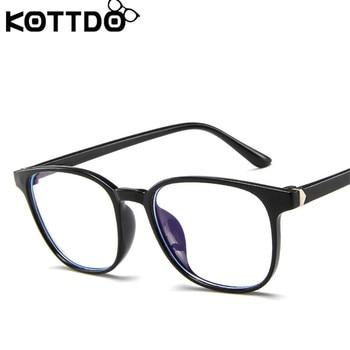KOTTDO Retro Mens Glasses Frame Fashion Computer Eyeglasses Frame Women Anti-blue Light Transparent Clear Pink Plastic Frame 5