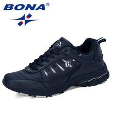 BONA 2019 חדש מעצב חיצוני גברים נעלי ריצה פרה פיצול ריצה הליכה ספורט נעלי שרוכים Athietic נעלי ספורט גבר טרנדי