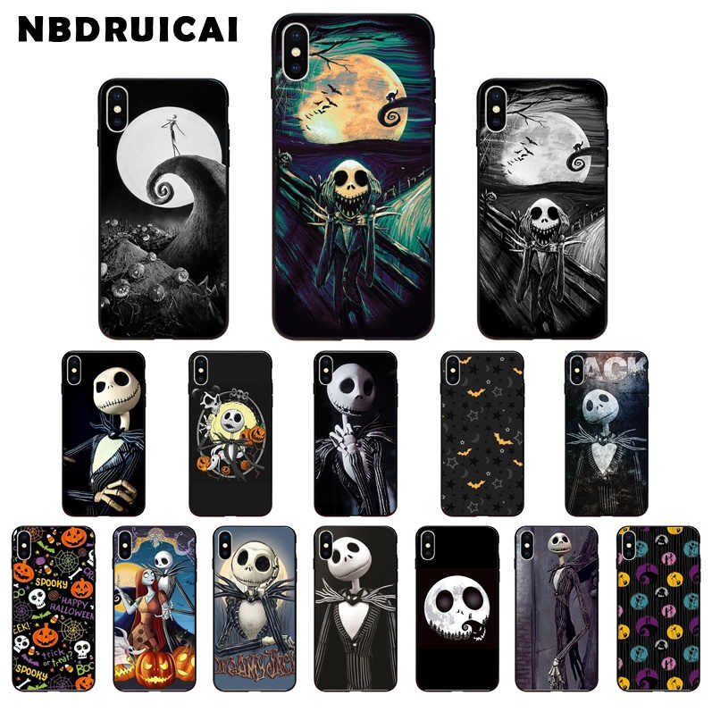 Nbdruicai Jack Spicer Lucu Halloween Coque Shell Ponsel Case untuk iPhone 11 Pro XS MAX 8 7 6 6S plus X 5 5S SE XR Case