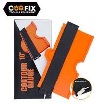 COOFIX 5/10 Inch Contour Gauge Profile Duplicator Tool Alloy Edge Shaping Wood Measure Ruler Laminate Tiles Meethulp Gauge