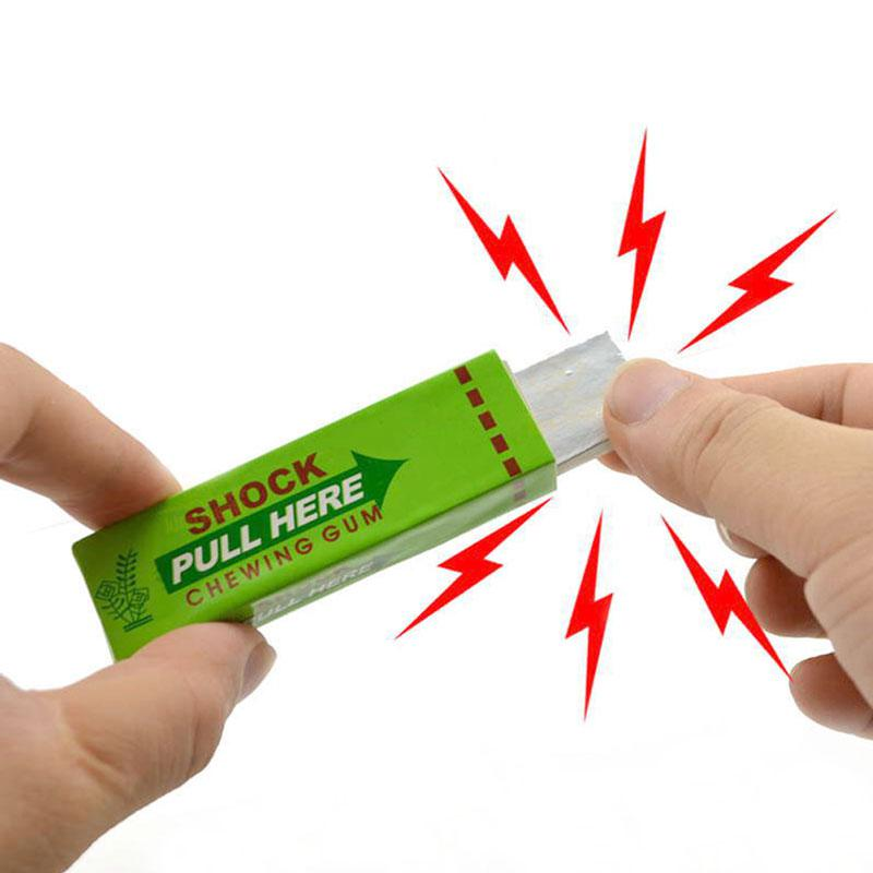 Safety Squishy Joke Prank Toys Electric Shock Shocking Stress Relief Toy Funny Pull Hand Chewing Gum Gags Toys For Chidren