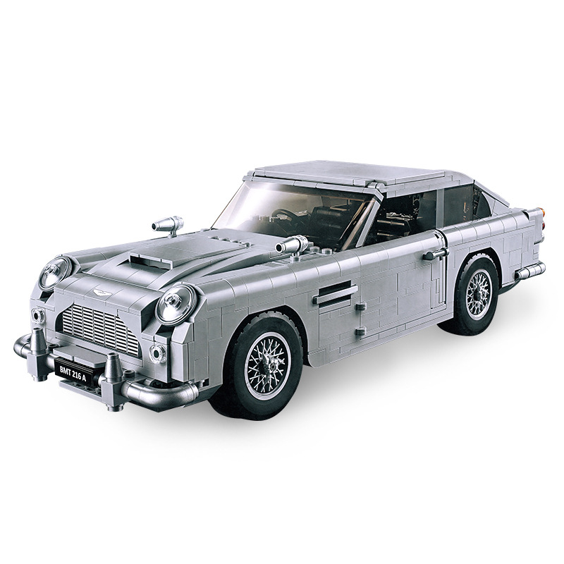 MOC Technic Hot Creator James Bond Famous Car Model Building Block Bricks Toys Compatible with Legoinglys Aston DB5
