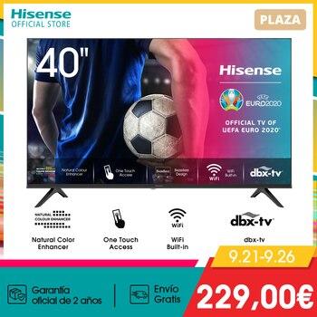 HISENSE 40A5600F TV televisión Smart TV 40 pulgadas,FHD 1920x1080,VIDAA U2.5,Diseño sin bisel,USB HDMI,Soporte Wifi