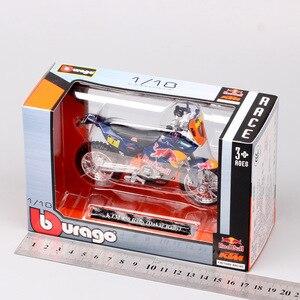 Image 4 - 1/18 スケール Bburago KTM 450 ラリー 2013 ライダー 1 号マクロレッドブルレースモトクロスエン Diecasts & おもちゃ車両モデル