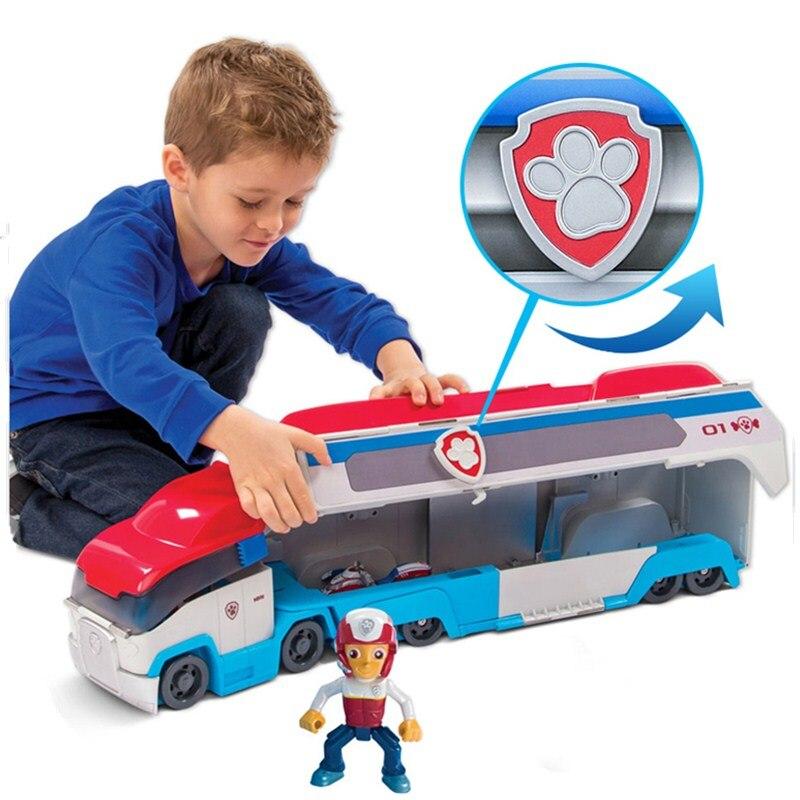 Jeu de jouets de patrouille de patte grand Bus Action et figurines de jouets figurine d'anime figure de patrouille pat' patrulla canina Bus voiture de sauvetage jeu de jouets