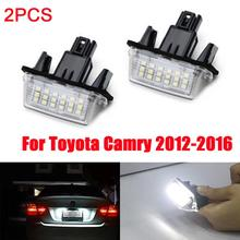 New Hot 2 Pcs License Plate Light 18 LED Lamp Xenon White High Power For Toyota Camry 2012 2013 2014 2015 2016 Car Accessories D
