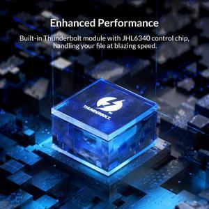 Image 5 - ORICO Thunderbolt 3 M.2 NVME SSD Gehäuse Unterstützung 40Gbps 2TB Transparent USB C SSD Fall mit C bis C Kabel Für mac Windows