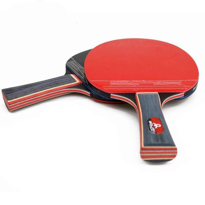 Portable Ping Pong Racket Set Table Tennis Blade of 2 Long Handle Ping Pong Paddles + 1 Retractable Net + 4 Table Tennis Balls