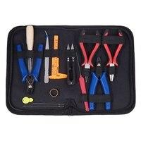 16Pc/Set DIY Jewelry Making Tools Kit Jewelry Pliers Beading Wire Set Repair Tools Bag DIY Craft