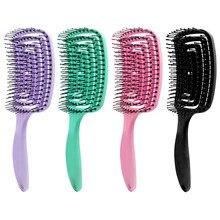 Brosse à cheveux en Arc creux, grand peigne à cheveux incurvés, brosse de Massage du cuir chevelu, bobine anti-moustiques