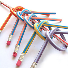 3 шт./партия Красочный Волшебный складной мягкий карандаш с ластиком Забавный креативный карандаш для детей подарок вращение на 360 градусов, без тонера