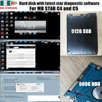The latest SD connector C4/C5 star diagnostic software with X-en-try/DTS-monaco/Vediamo and FDOK calculator 500G HDD or 480G SSD