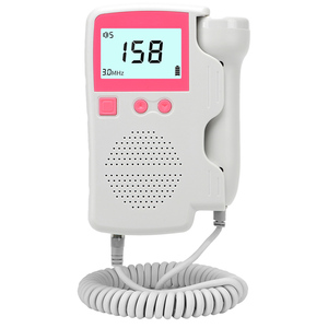 Image 3 - 3.0MHz Doppler moniteur de fréquence cardiaque fœtal à domicile grossesse bébé son fœtal détecteur de fréquence cardiaque affichage LCD pas de rayonnement