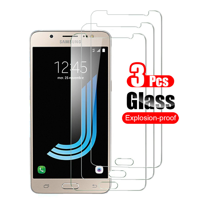 3Pcs For Samsung Galaxy J7 2015 2016 2017 2018 J700 J710 J730 J737 Tempered Glass Screen Protector Protective Glass Film 9H