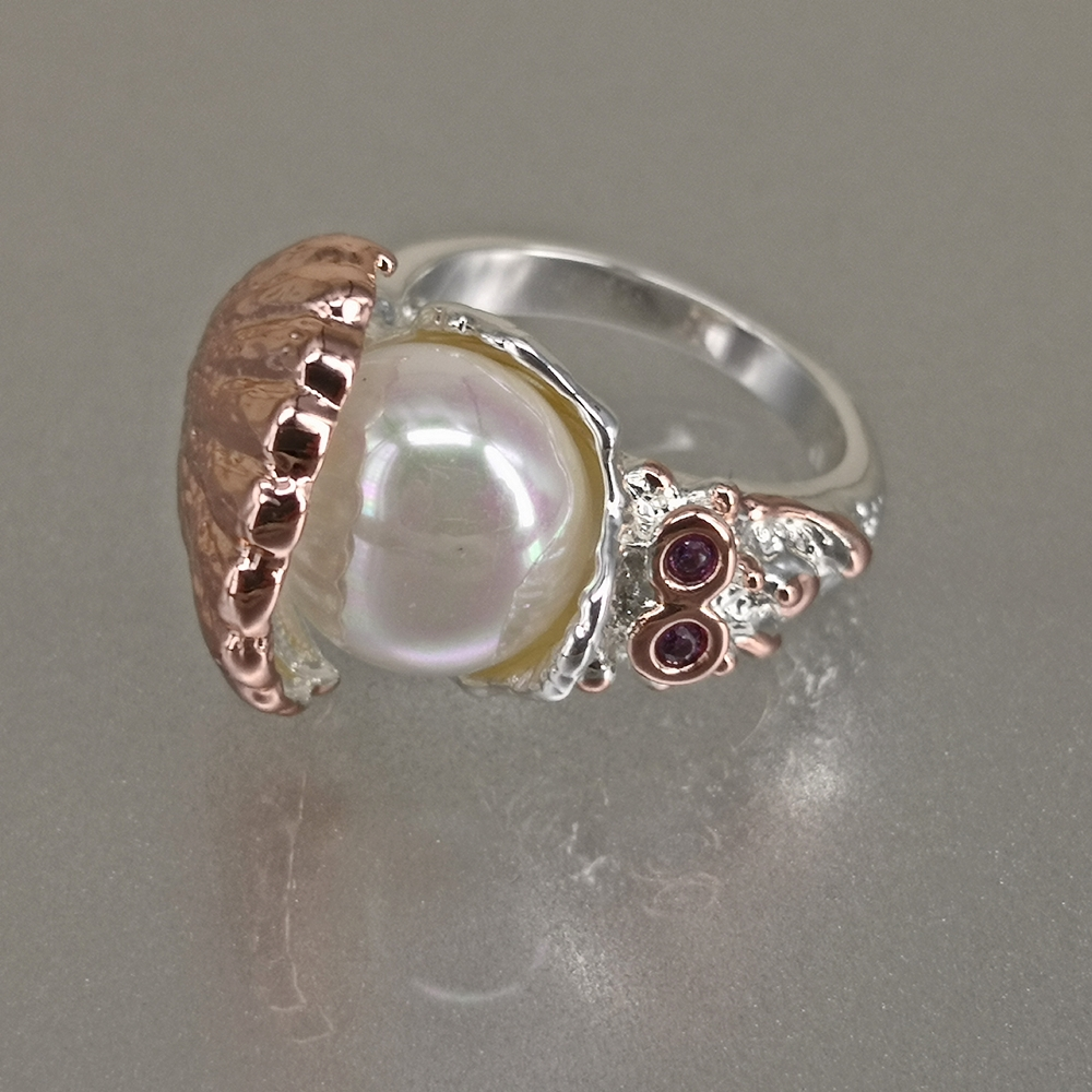 WA11773 DreamCarnival 1989 New Arrived Women Wedding Ring Pearl Inside Shell Rose Gold Silver Color CZ Fashion Jewelry Must Have (11)