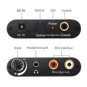 Image 2 - Neoteck cyfrowy na analogowy konwerter Audio DAC koncentryczny optyczne Toslink SPDIF do analogowe RCA 3.5mm Adapter gniazda Jack z kontrolą głośności