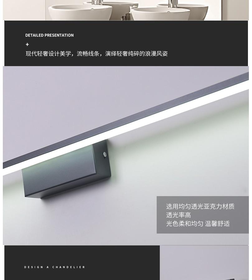 terminou led espelho lâmpada AC90-260V
