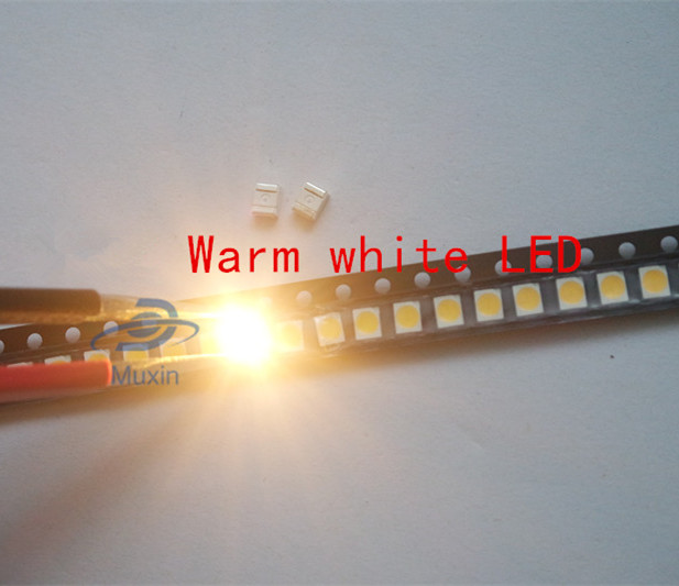 100pcs SMD 0402 0603 0805 2835 3528 1206 5050 5730 3014 4014 Diodo branco/warm white light emitting diode SMD super bright LED 3V