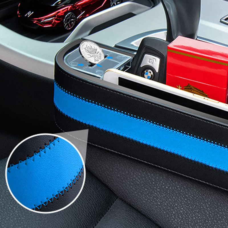 Auto-Stowing-Tidying Organizer-Box Coin-Case-Accessories Pocket Storage Armrest Seat-Gap