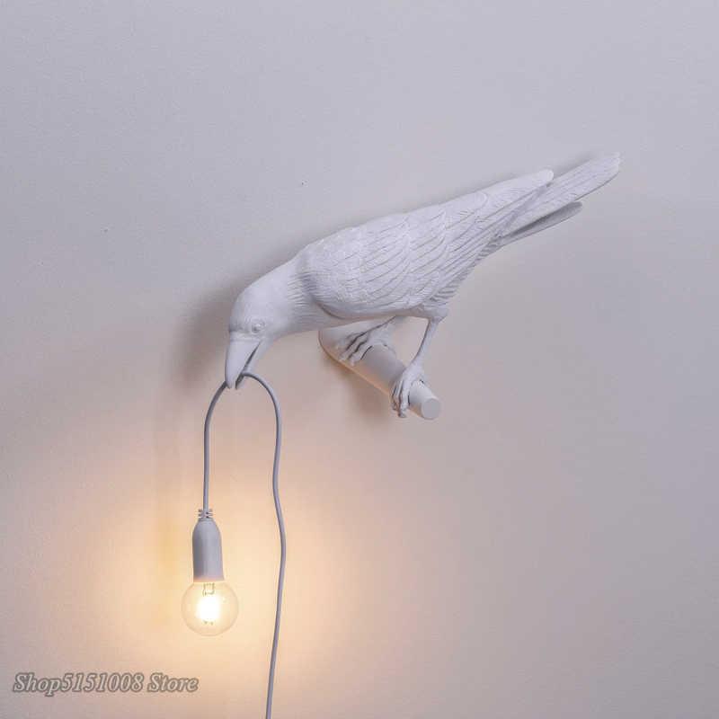 Bahasa Italia Seletti Burung Lampu Meja Nordic Ruang Tamu Dekoratif Rumah Lampu Meja Burung Table Light Hewan Burung Lampu Lampu