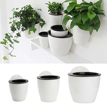 Hanging Plant Pot Self Watering Garden Wall Mounted Hanging Planter Basket Basket Basket Flower Creative Plastic Decor Supply 6