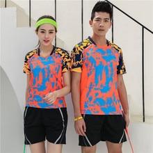 цены New Men & Women Badminton Shirts Sets Men Table Tennis Tennis Jerseys Badminton Training suit jersey & shorts Set Running Wear
