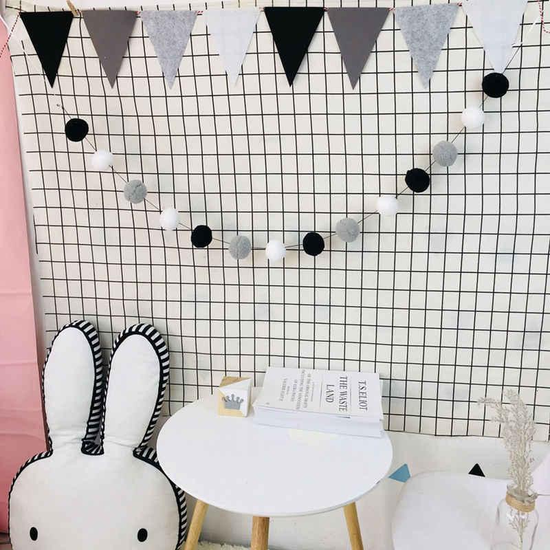 2,5 M niños fiesta cama hecha a mano tienda colgante juguete decoración de la habitación del bebé Makaron Color esponjoso bola cadena decoración de la habitación de los niños colgante