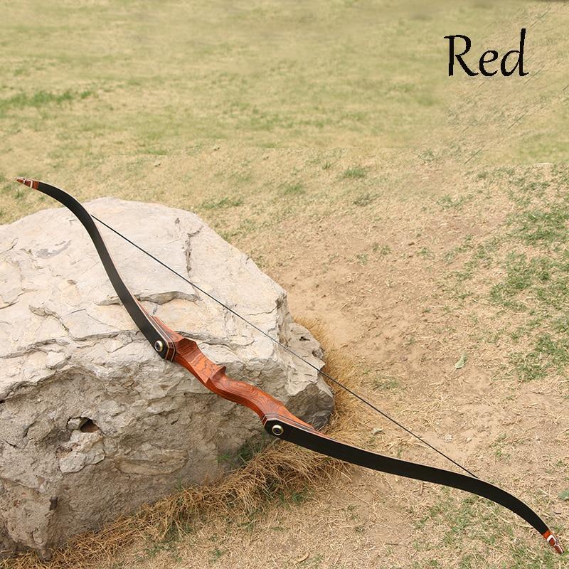 laminado arco recurvo de madeira e flecha