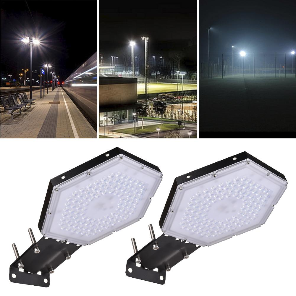 2pcs Honeycomb Led High Bay Light Waterproof Street Light Mining Lamp 300W 220V Industry Light Path Home Garden Light
