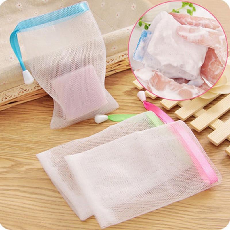 10pcs Facial Cleanser Manual Foaming Net Bag Wash Face Soap Liquid Soap Whipped Mousse Bath Shower Blister Foaming Net