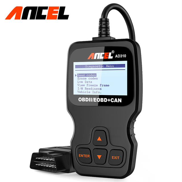 Ancel escáner automotriz Obdii AD310 para coche, herramienta de diagnóstico, lector de código, herramienta de escaneo PK ELM327 v1.5