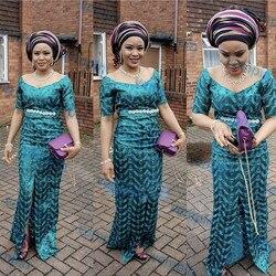Afrykański Organza koronki wzór tkaniny z cekinami i kamieniami nigeryjczyk do szycia sukienek|Koronka|Dom i ogród -
