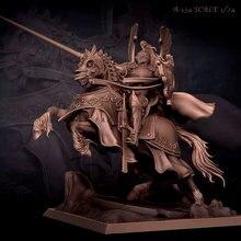Набор фигурок из смолы 1/24 рыцарь на лошади модель самособранная