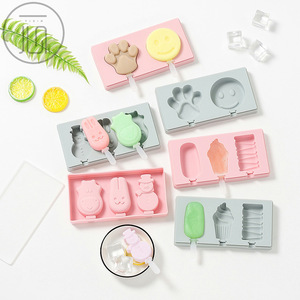 3Pack Ice Cream Mould Popsicle Mold Silicone Easy Cream Ice Molds Cakesicle Mold Homemade Popsicle With Sticks For DIY Ice Cream(China)