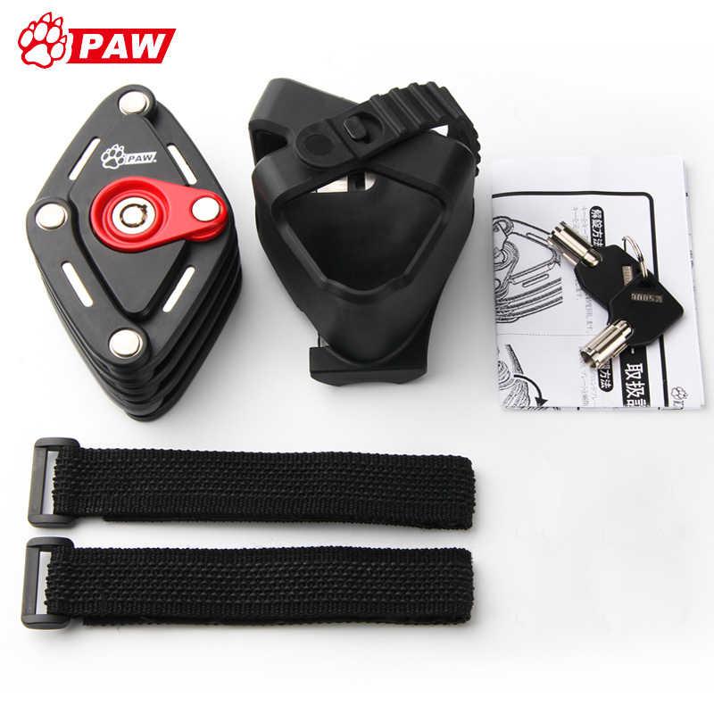 PAW Bike Anti Theft Chain Folding Hamburg Key Lock Zinc Alloy Multi-function