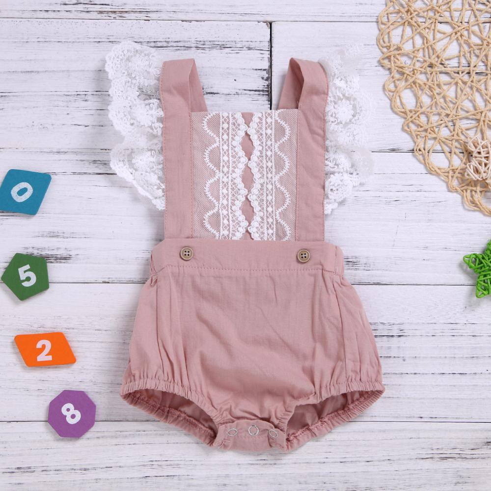 New Fashion Summer Newborn Baby Girl Clothes Lace Sleeveless Backless Rompers Infantile Jumpsuits Outfits Sunsuits Overalls