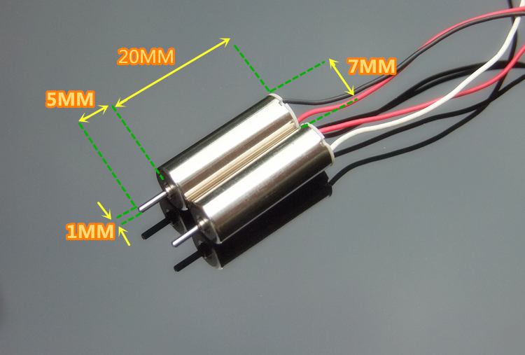2 шт./лот 7 мм * 20 мм Мини Мотор без сердечника постоянного тока 3,7 в 55000 об/мин ультравысокоскоростной микро полый Круглая мотор для радиоуправ...