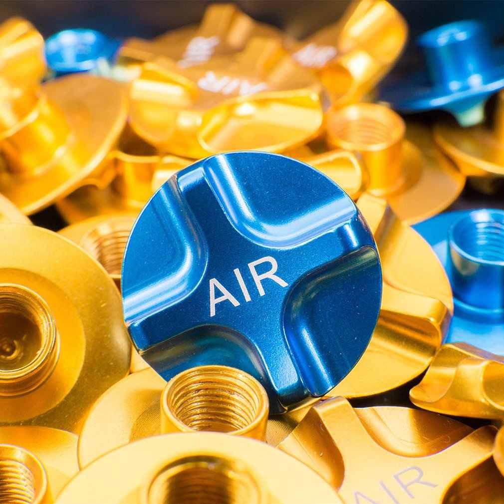 1PC CNC rower górski powietrza gazu widelec wartość MTB przedni widelec Cap Protector części rowerowe złoty niebieski