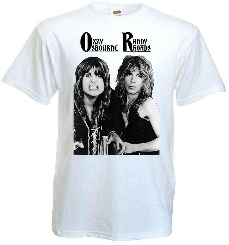 Randy Rhoads Ozzy Osbourne Poster V10 T Shirt White Hard Rock All Sizes S 5Xl