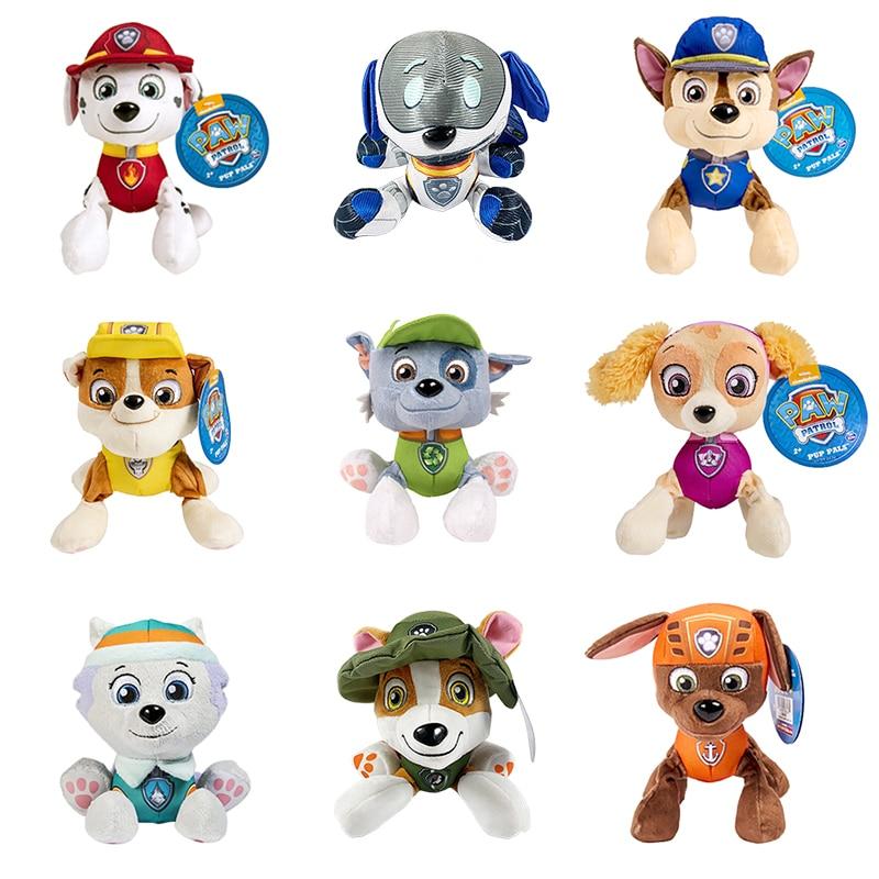 20 Cm Paw Patrol Plush Toy Ryder Marshall Chase Skye Everest Tracker Robo-Dog Rubble Rocky Zuma Christmas Gift Toys